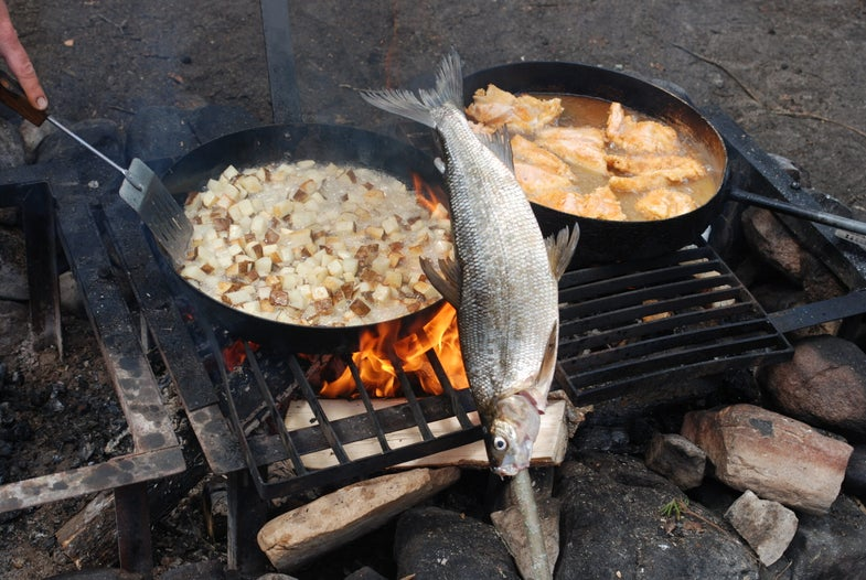 Shore Lunch 2.0: Fish on a Stick