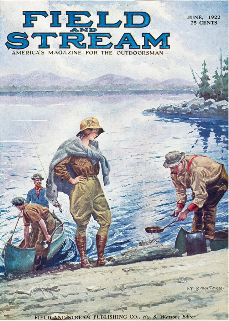 cover, vintage, F&S, woman, beach, camping, boat, pants