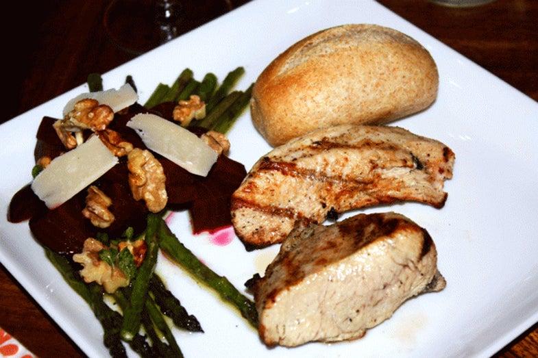 Seasoned turkey steaks