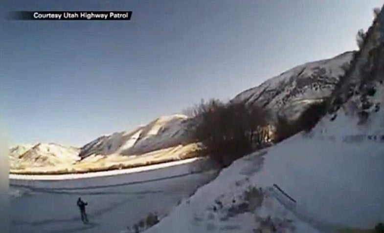 Video: Woman Falls Through Ice Trying to Save Dogs