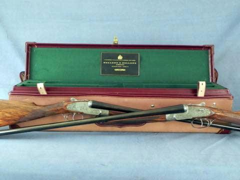Matching 1984 Hand-Engraved Holland & Holland Shotguns Go for $135,000