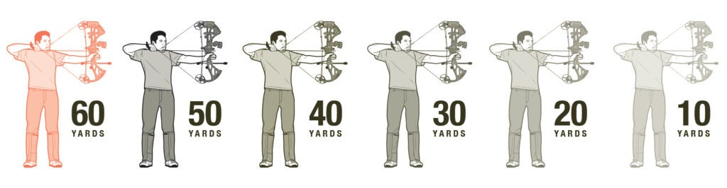 bow training 60 yards