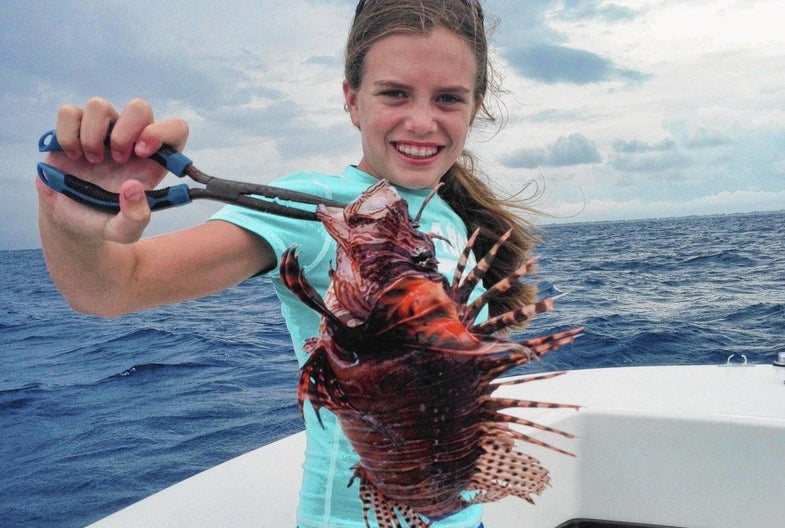 Kid's Science Project Reveals That Invasive Lionfish Can Survive in Freshwater