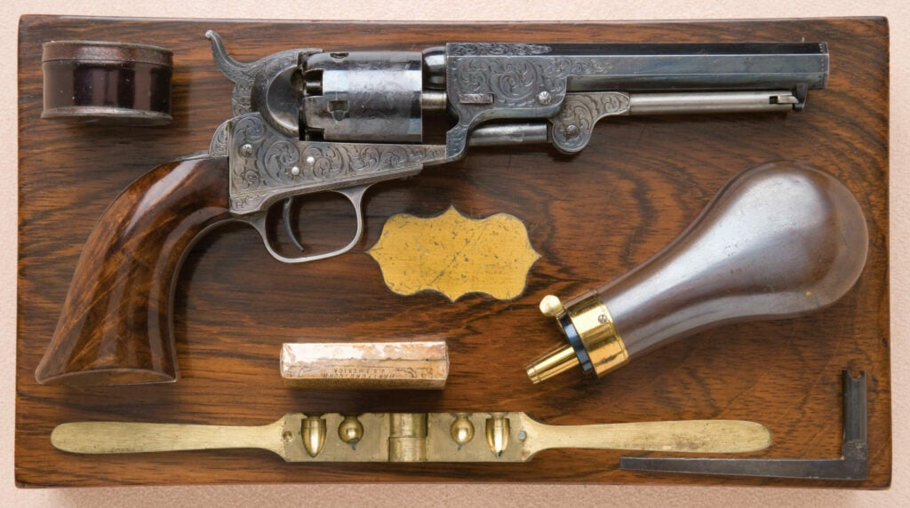 httpswww.fieldandstream.comsitesfieldandstream.comfilesimport2014importImage2011photo38356The_Historic_and_Important_Deluxe_Engraved_Colt_Model_1849_Pocket_Revolver_Presented_to_Gunsmith_Anson_Chase_from_the_Inventor_Colonel_Colt_-_1.jpg