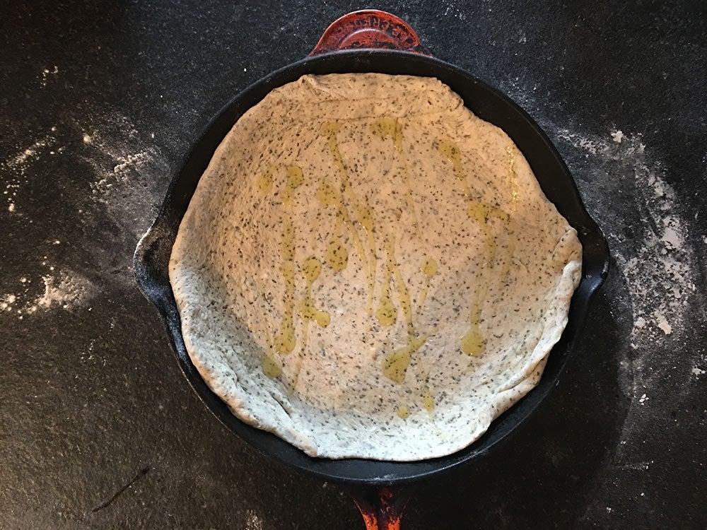 wild game pizza cast iron skill