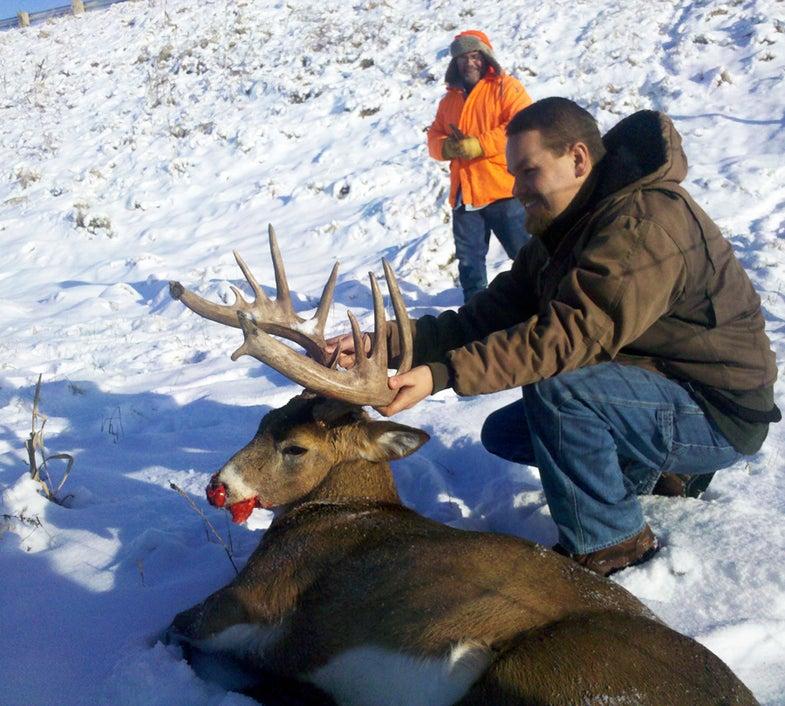 Huge Wisconsin Buck Leaps To Its Death From Bridge