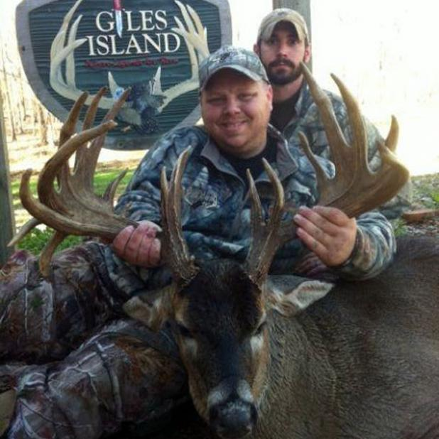 """Bruce and guide Tony Klingler with """"The Rock."""""""