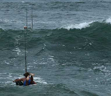 Fishing from a Surfboard