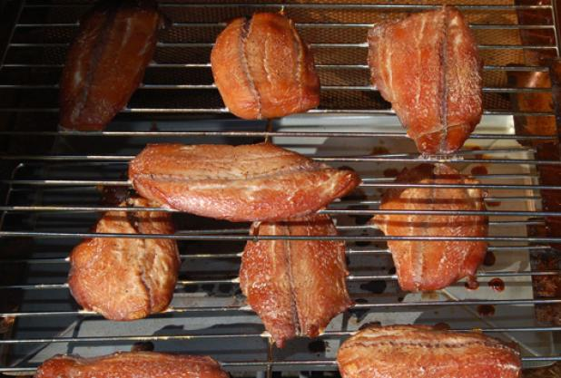 smoked fish, smoked salmon