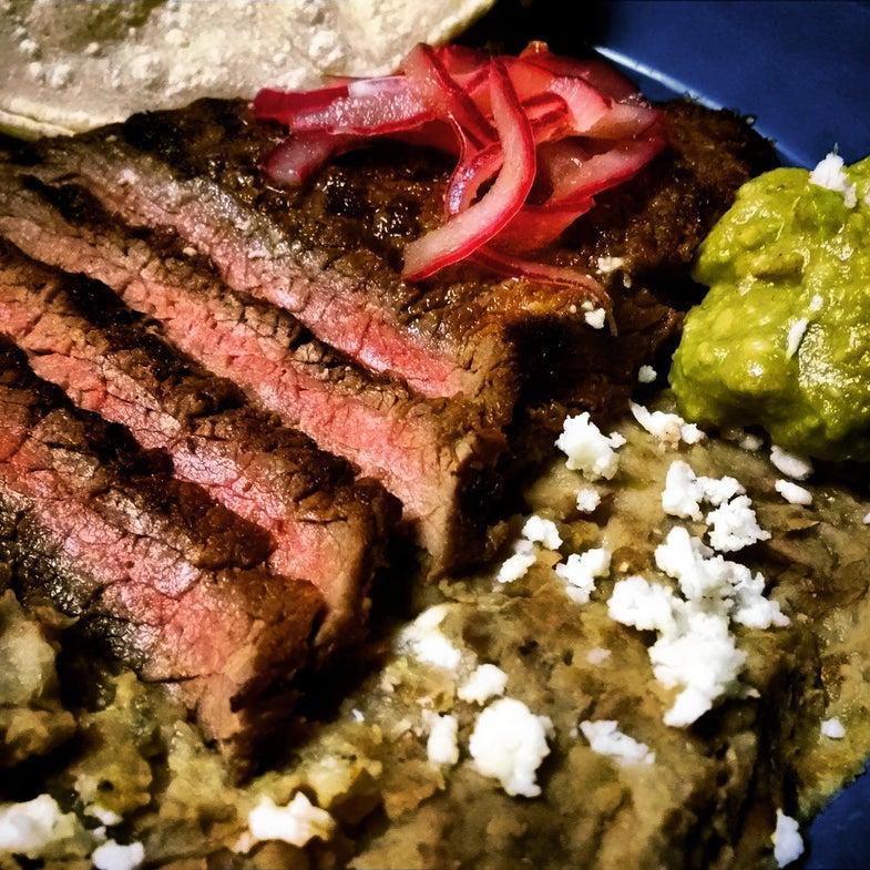 Recipe: Elk Carne Asada with Roasted Tomatillo Salsa