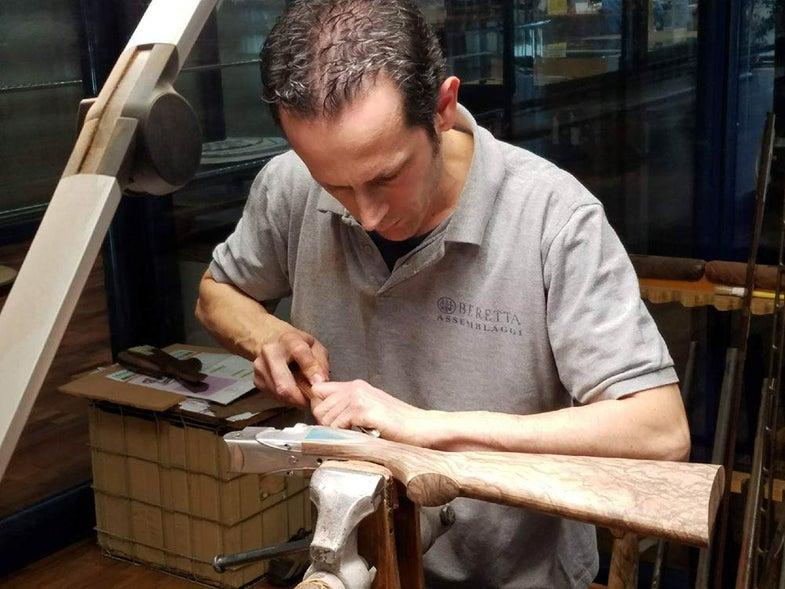 beretta craftsman shaping gun stock