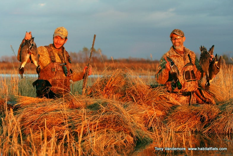 Duck Hunting Report: Pintails by Sneak Boat in Missouri's Habitat Flats