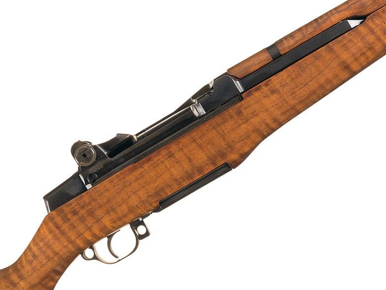 garand m1 rifle closeup