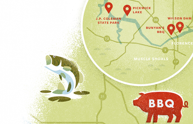 Hawgs and Hogs: Your Dream Road Trip for Southern Bass and Barbecue