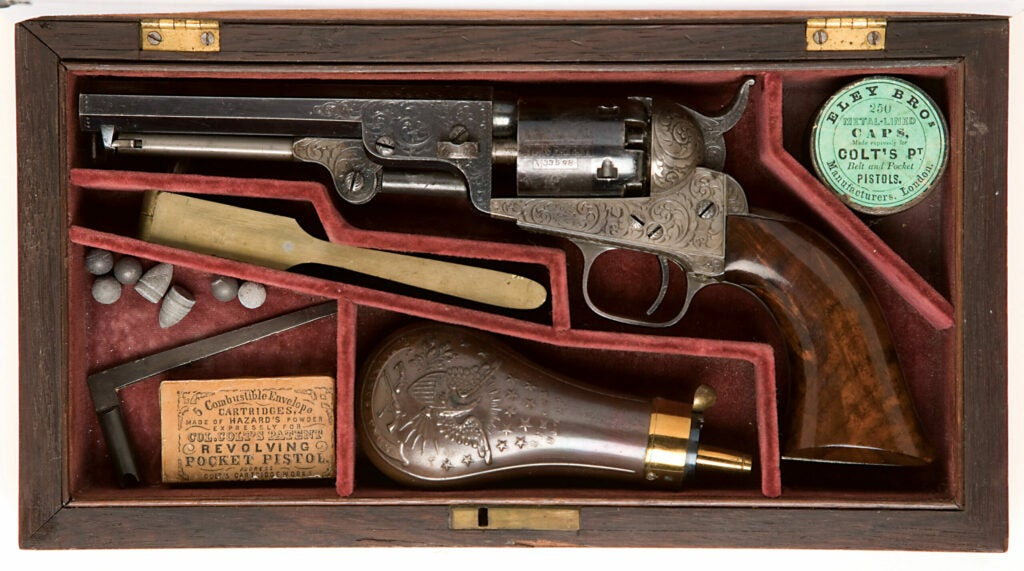 httpswww.fieldandstream.comsitesfieldandstream.comfilesimport2014importImage2011photo38356The_Historic_and_Important_Deluxe_Engraved_Colt_Model_1849_Pocket_Revolver_Presented_to_Gunsmith_Anson_Chase_from_the_Inventor_Colonel_Colt_-_2.jpg