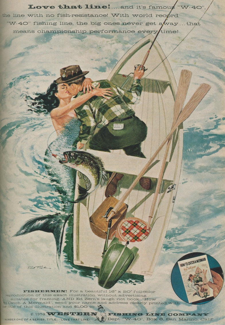 Catching Eyes: Fishing Ads From the 40s and 50s