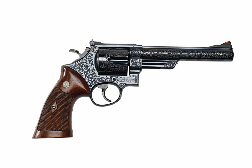 The Smith & Wesson Model 29 handgun on a white background.