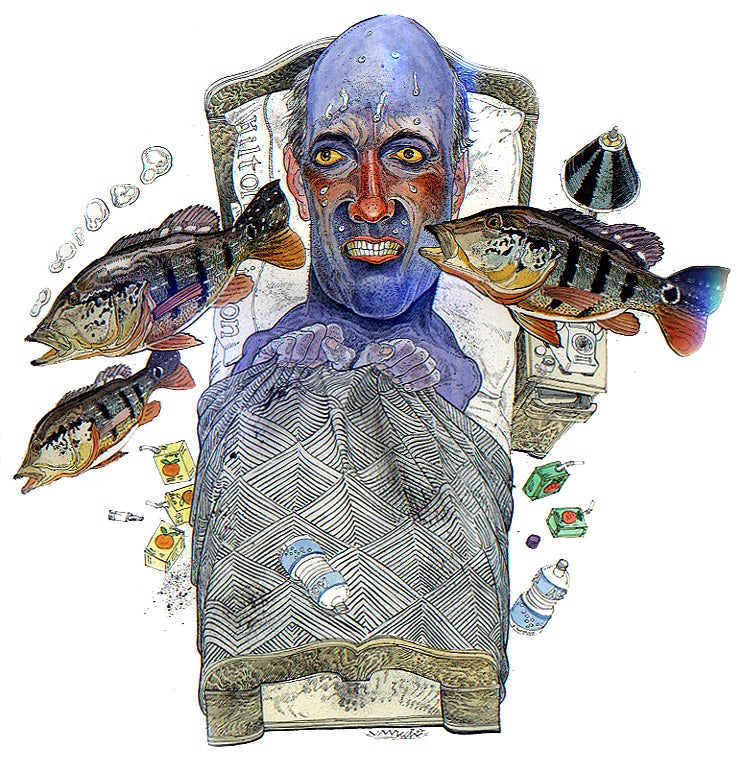 bill heavey; jack unruh; fever; brazil; peacock bass