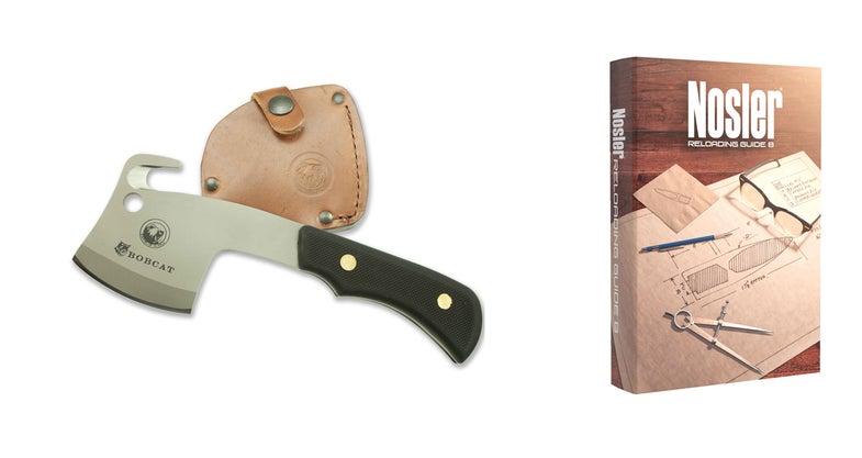 nosler reloading guide, bobcat knife,