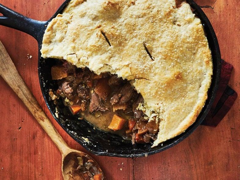 Duck, Date, and Rutabaga Pot Pie Recipe