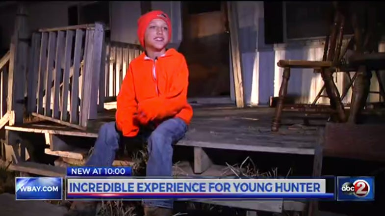 Video: Ten-Year-Old First-Time Hunter Drops Two Deer with One Shot