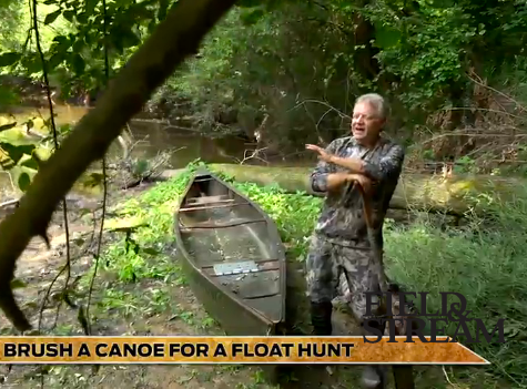 How to Brush a Canoe for a Float Hunt