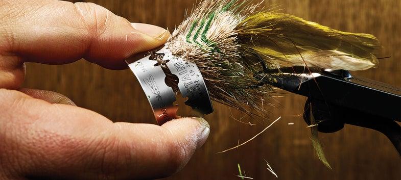 spun deer hair bass fly lure