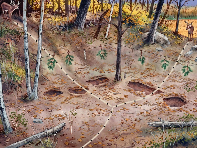 how to create a mock scrape for deer hunting