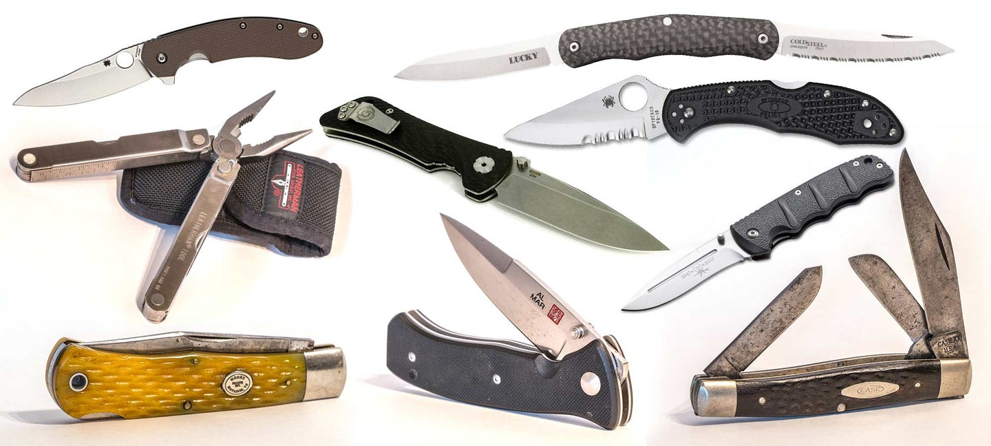 collage of best edc knives
