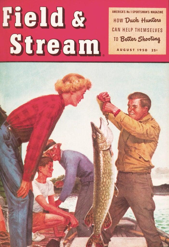 vintage, cover, woman, F&S, big fish, fish, man