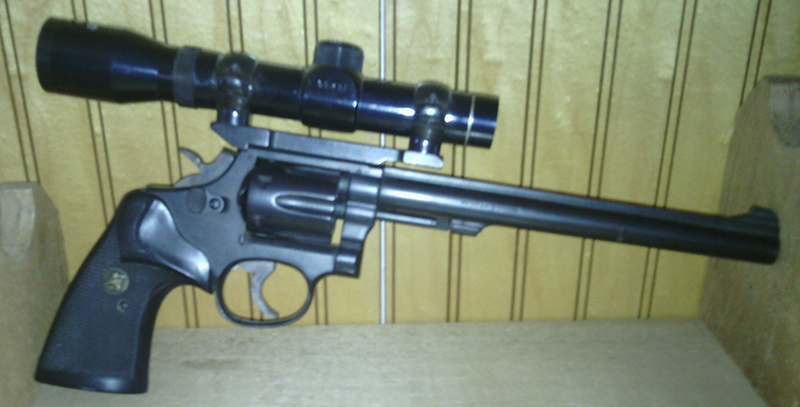 This is my scoped S&W M48.