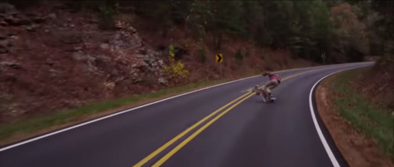 Video: Longboarder Crashes into Deer at Top Speed