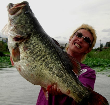 World Record Bass Caught in Japan