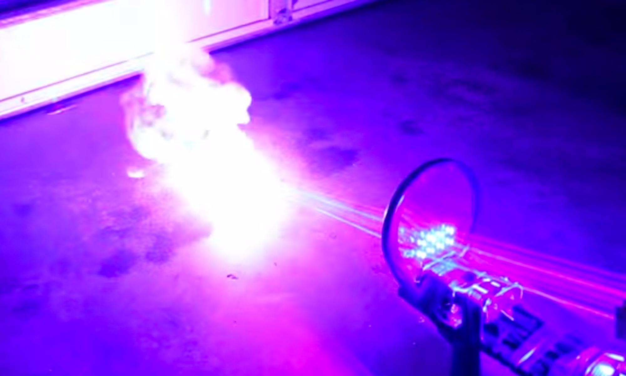 Man Builds Homemade Laser Shotgun