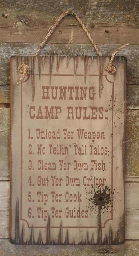 hunting camp sign