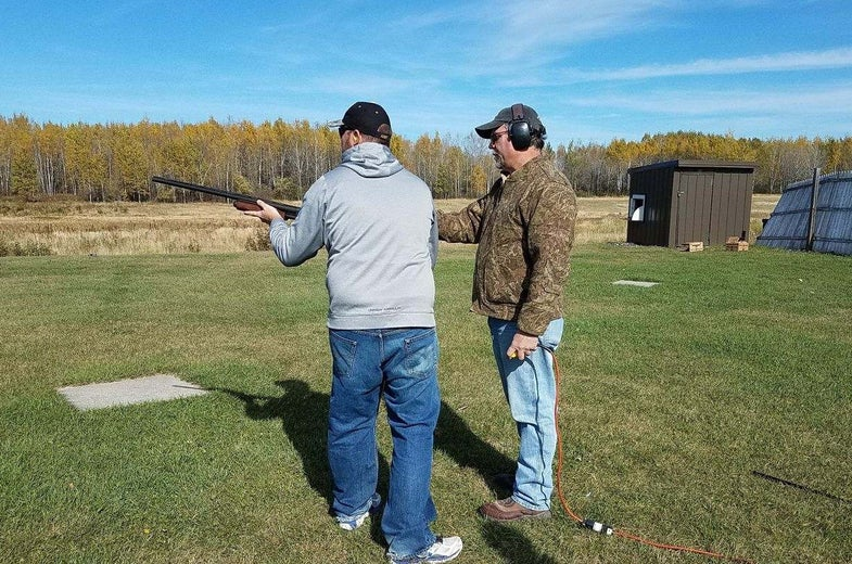 Andy Duffy, Forrest Pryde, shotgunning lesson, RGS, Grouse and Woodcock Hunt, Grand Rapids, Minnesota
