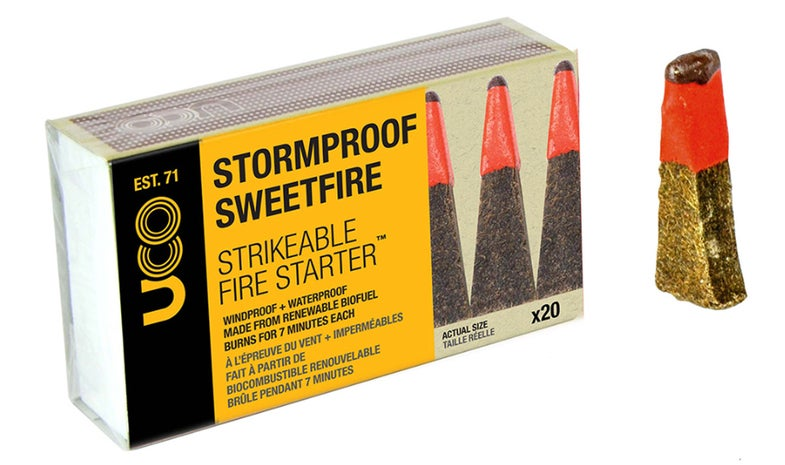 Strikeable fire starter, uco