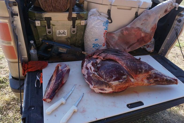 My Tailgate Butchering Setup