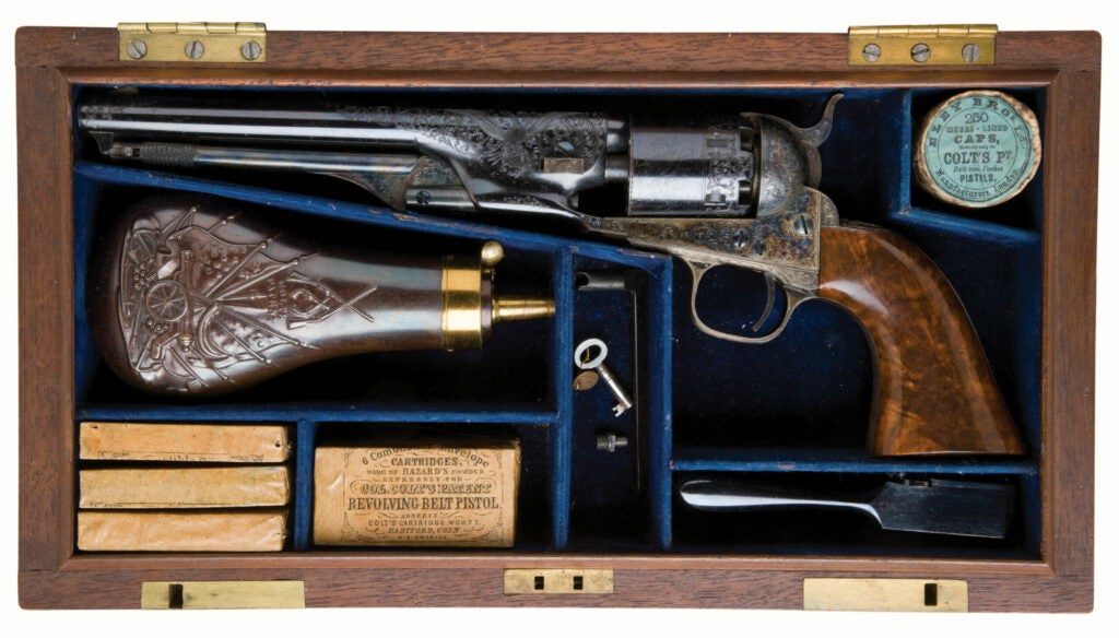 httpswww.fieldandstream.comsitesfieldandstream.comfilesimport2014importImage2011photo38356Exceptional_Historic_Cased_Engraved_and_Presentation_Inscribed_Colt_Model_1861_New_Model_Navy_Revolver_From_the_Colt_Co._to_E.W._Parsons_of_Adams_Expre