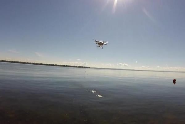 Fisherman Uses Drone to Land Smallmouth Bass