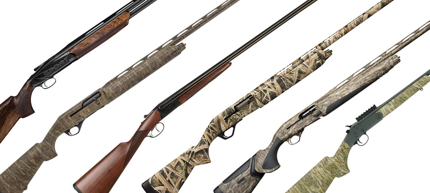 collection of new hunting shotguns from shot show