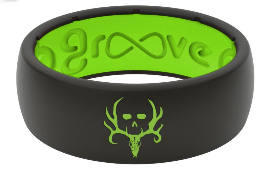 groove wedding ring, silicone, bone collector