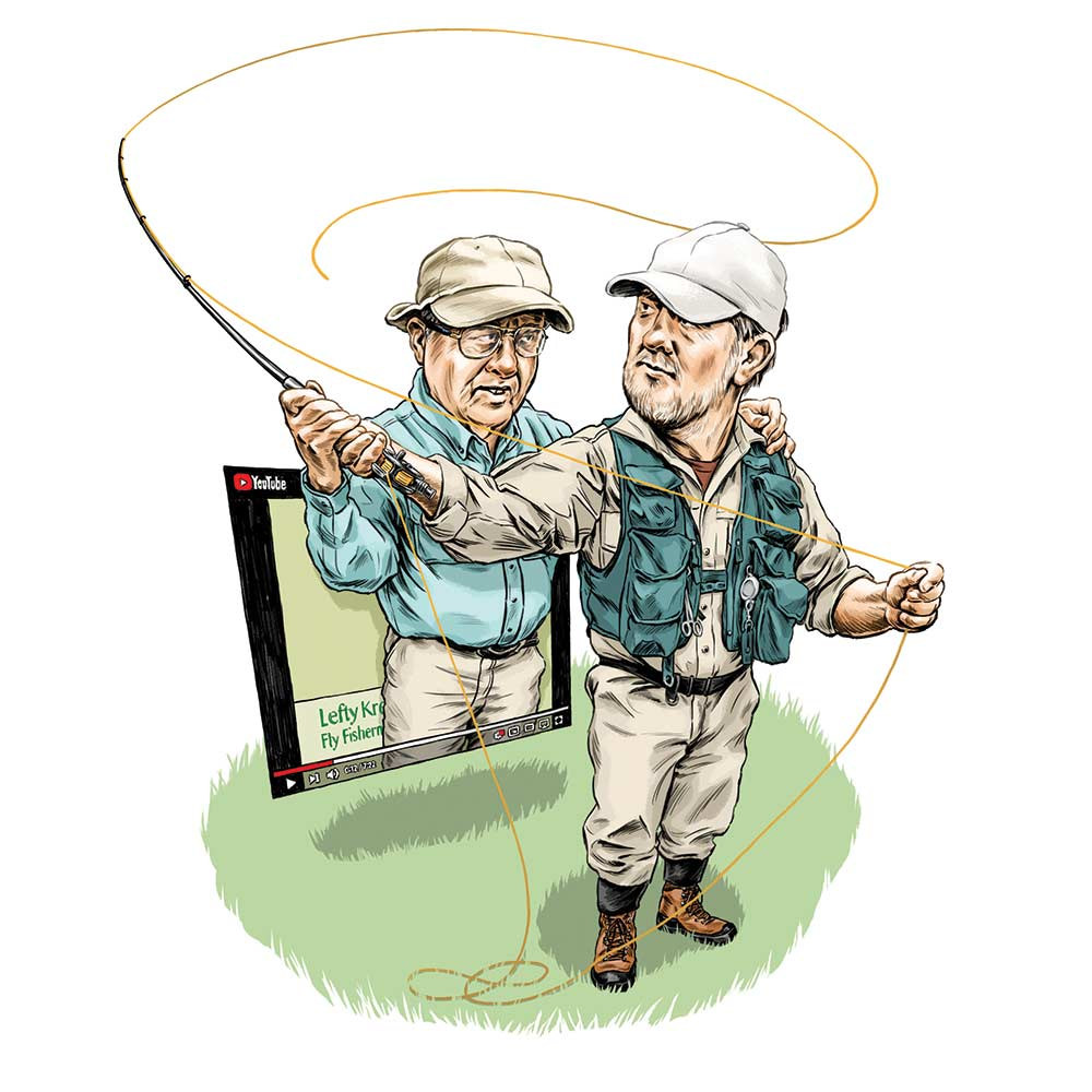 illustration of fly fishing tips