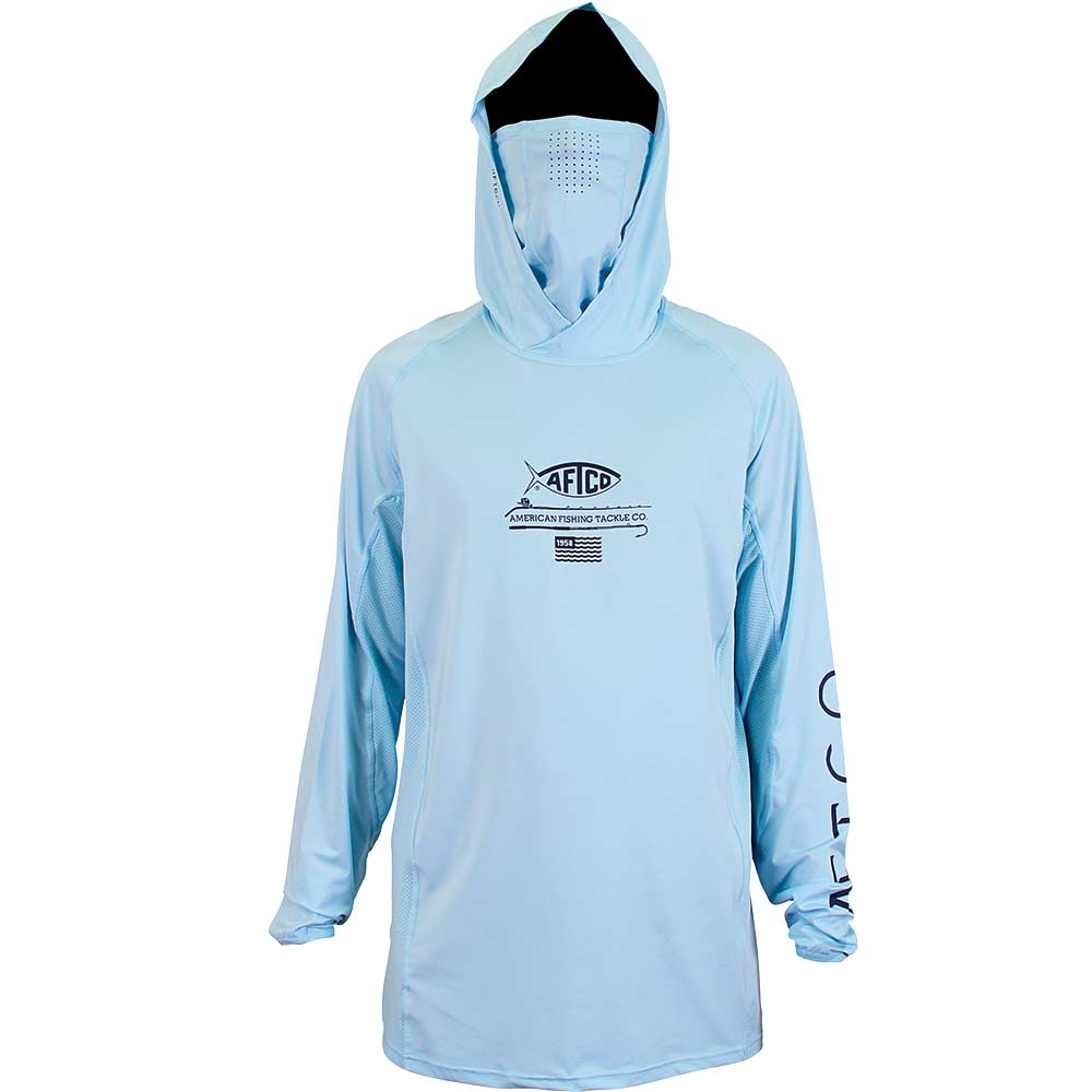 AFTCO Barracuda Geo Cool Hooded LS Performance Shirt