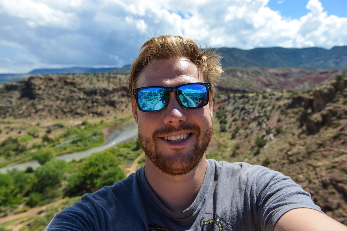 selfie, outdoors, fall, danger