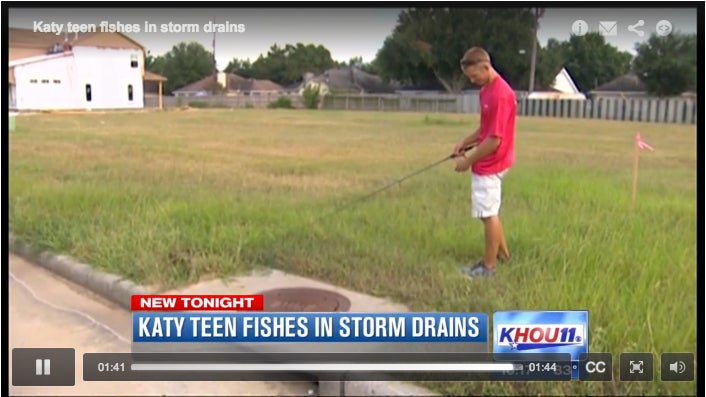 Sewer-Fishing Teen Has Hit The Big Time