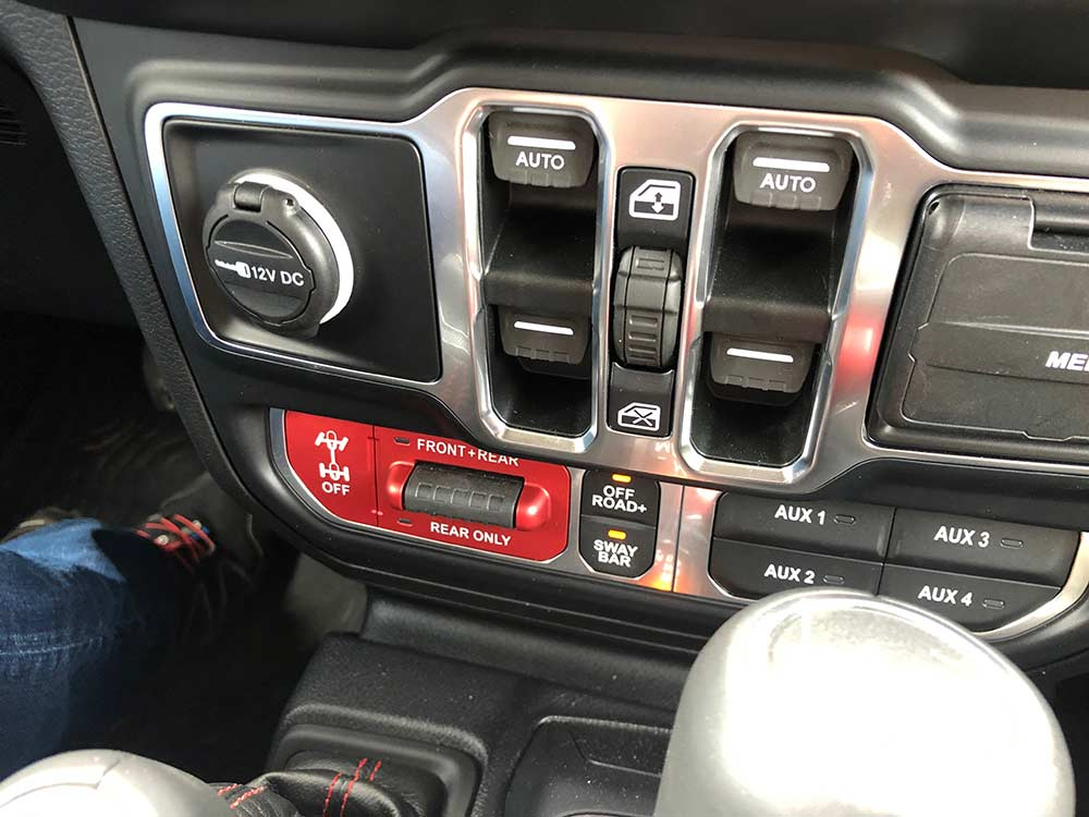 dashboard controls for 2020 jeep rubicon