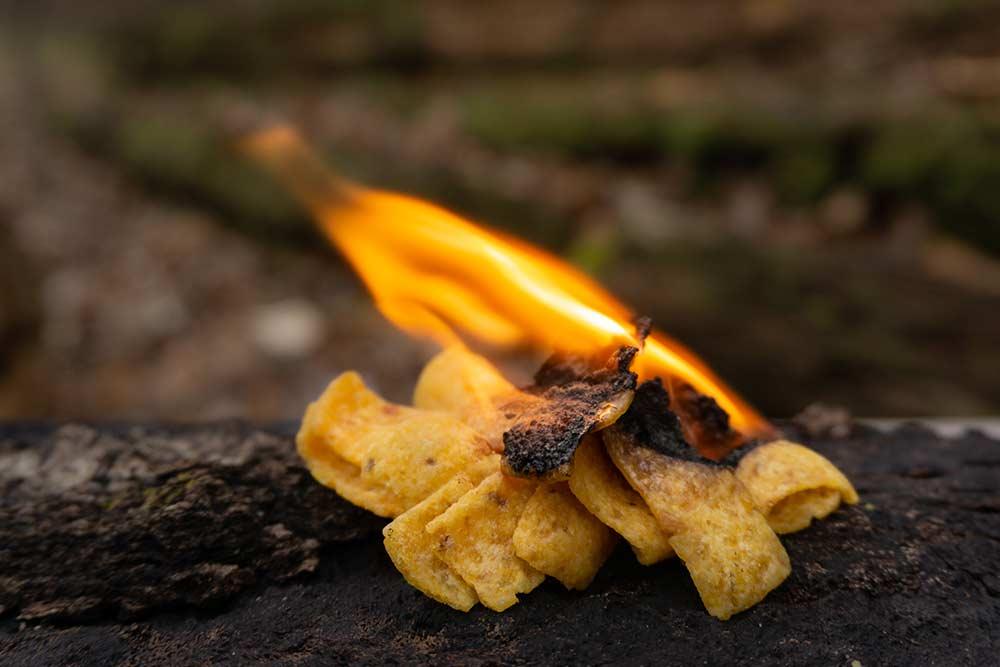 potato chips on fire