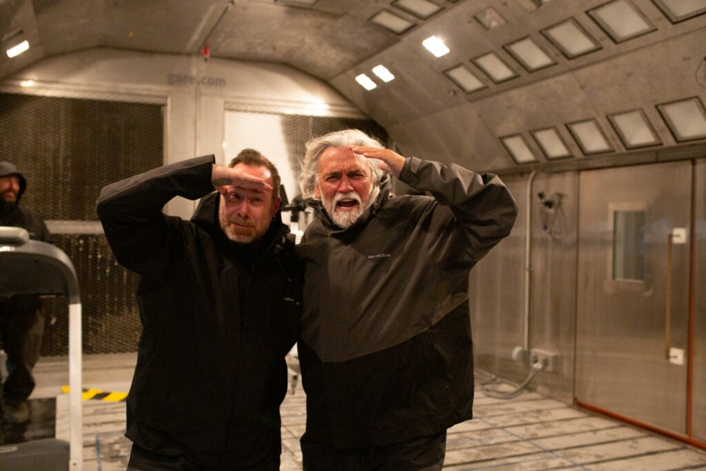 captain wild bill wichrowski and claus claesson environmental chamber