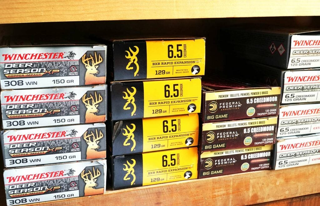 boxes of rifle ammo